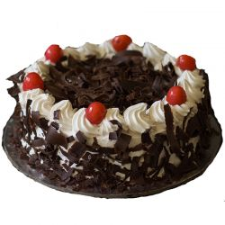 Black Forest Eggless Cake - 2 Pound (Kookie Jar)