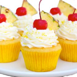 Pineapple Cup cakes-10 nos