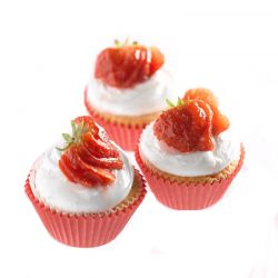 Strawberry Cup cakes-10 nos