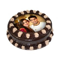 2kg Personalized Couple' s Photo Cake