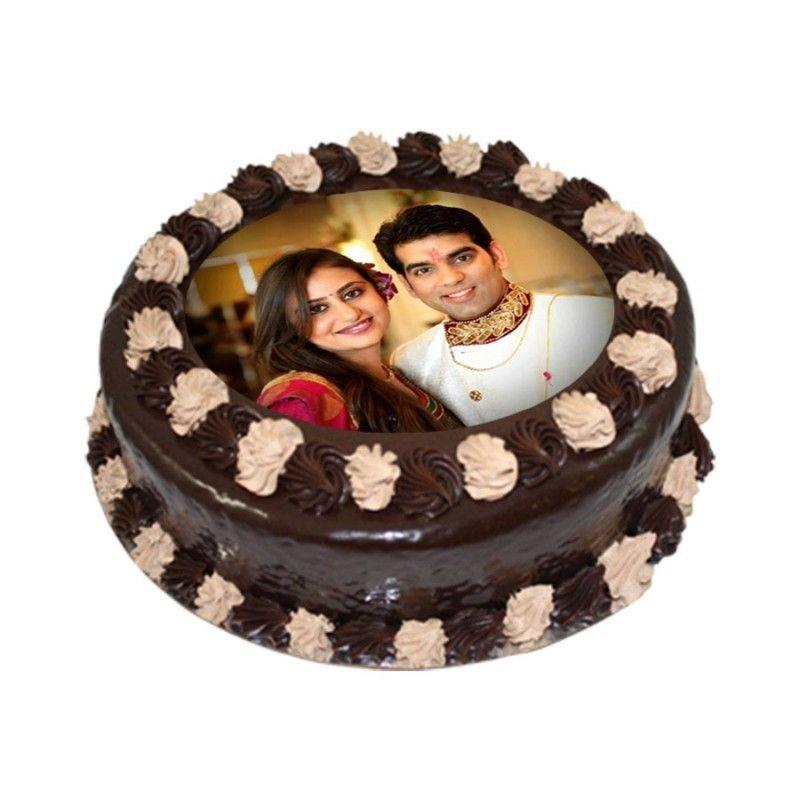 2kg Personalized Couple' s Photo Cake