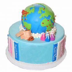 World Globe Cake - 2 kg