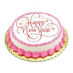 New Year Strawberry cake