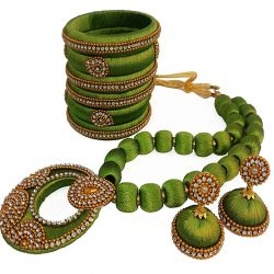 Olive Green necklace set