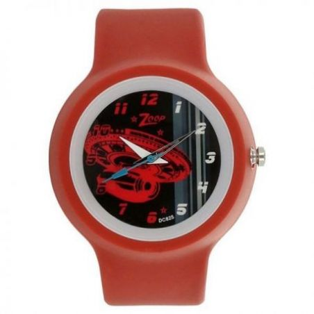 Space age black dial analog watch