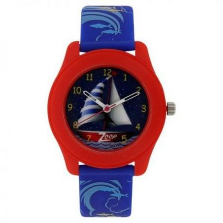 Travel blue dial plastic strap