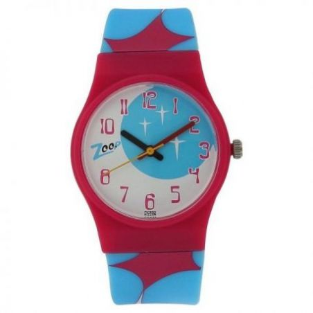 Space age multicoloured dial analog watch