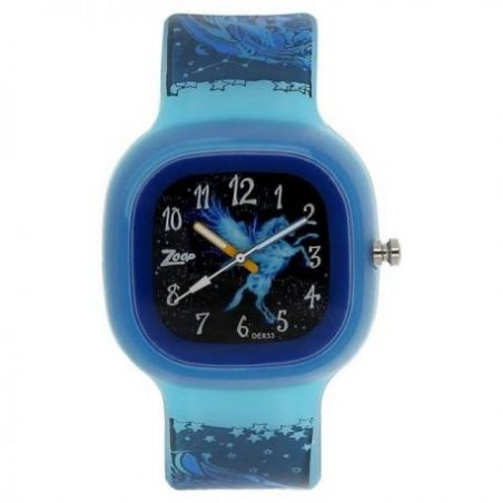Glow in the dark watch with black dial
