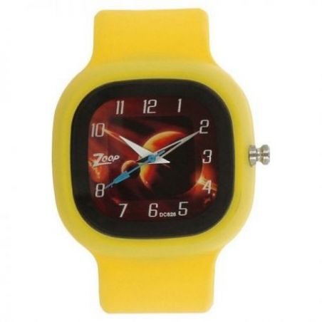 Space age brown dial plastic strap