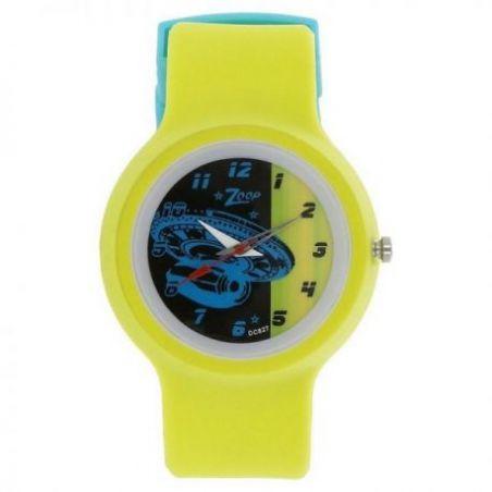 Space age multicoloured dial plastic strap