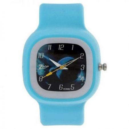 Space age blue dial plastic strap