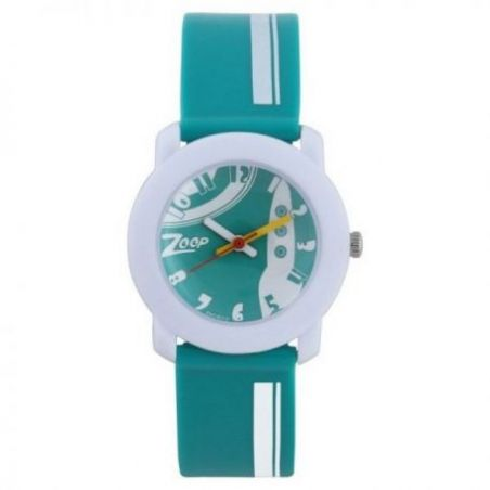 Space age green dial analog watch