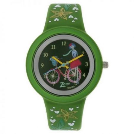 Travel green dial plastic strap