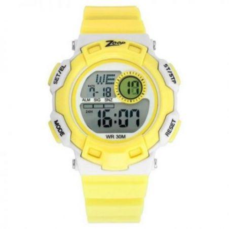 Digital yellow strap watch