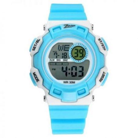 Digital blue strap watch