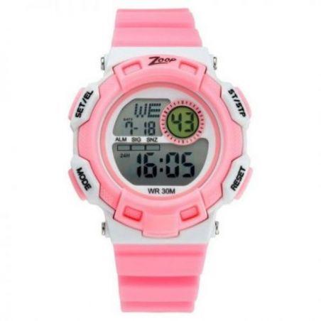 Digital pink strap watch
