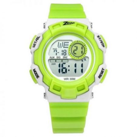 Digital green strap watch
