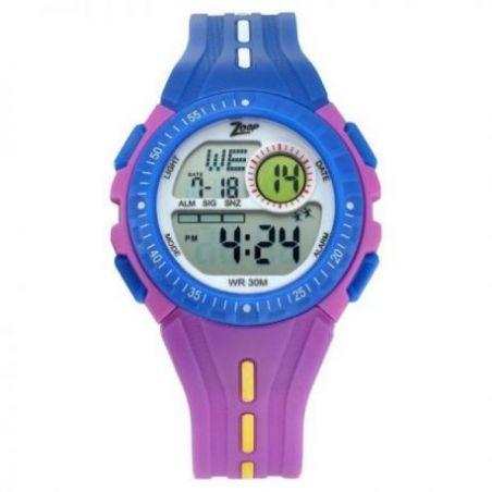 Digital purple strap watch