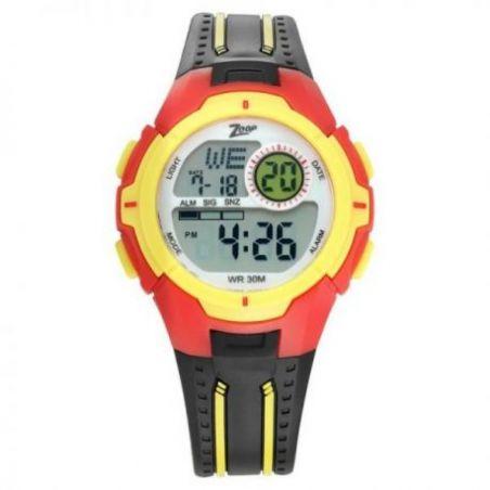Digital black strap watch