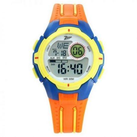 Digital orange strap watch