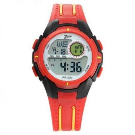 Digital red strap watch
