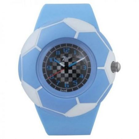 Multicoloured dial watch with plastic case