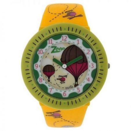 Yellow dial white plastic strap watch