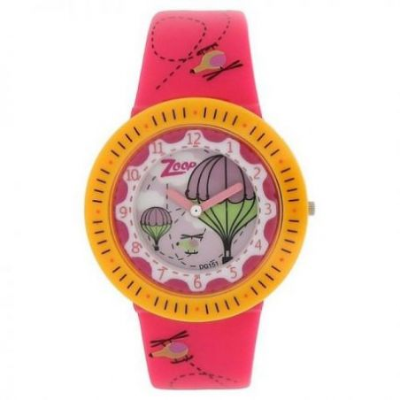 Pink dial Pink plastic strap watch