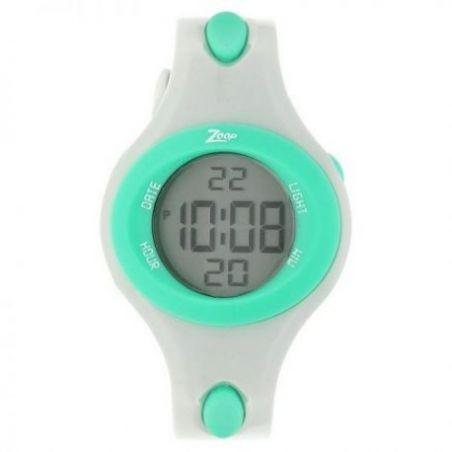 Grey dial grey plastic strap watch