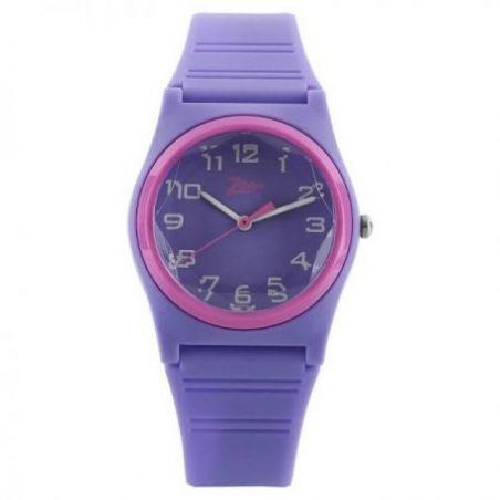 Purple dial purple plastic strap watch