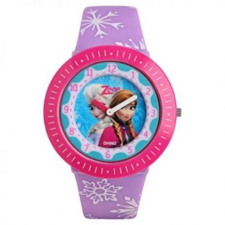 Multicoloured dial multicoloured plastic strap watch