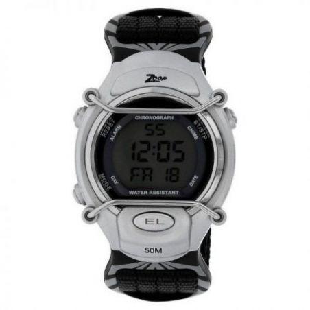 Grey dial black nylon strap watch