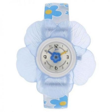 Silver dial plastic strap watch