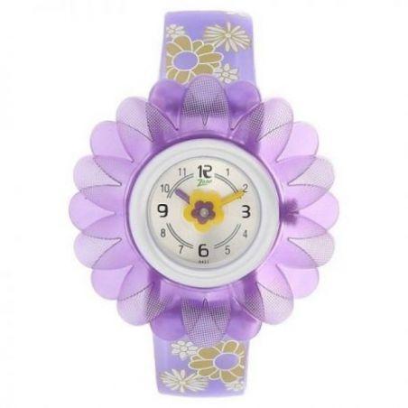 Silver dial multicoloured plastic strap watch