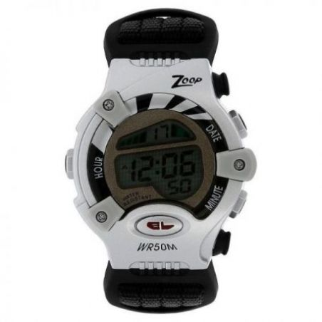 Grey dial watch with plastic case
