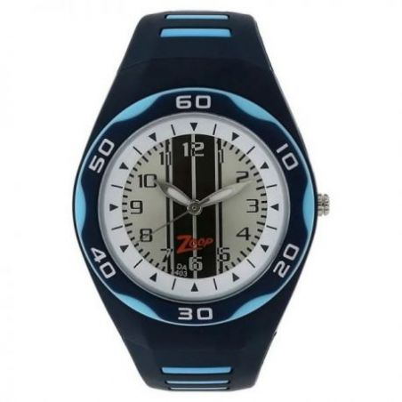 White dial blue plastic strap watch