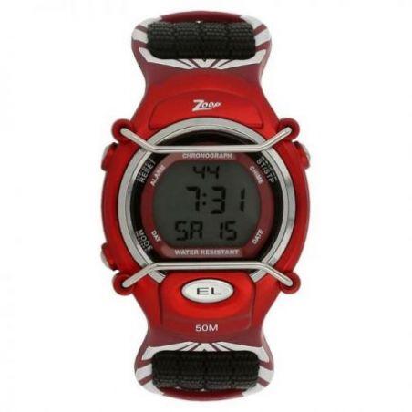 Grey dial black plastic strap watch