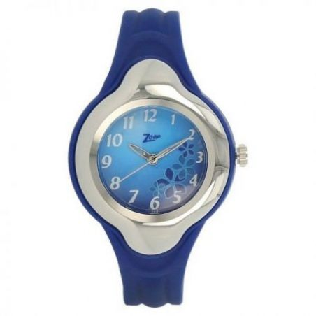 Blue dial blue plastic strap watch