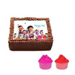 Photo Cake with Gulal