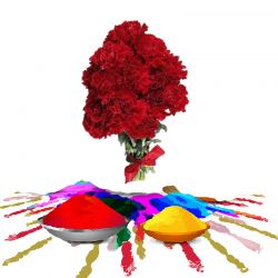 Red Carnations n Gulal