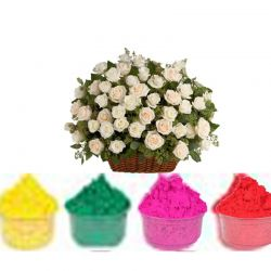 Exhautic White Rose Basket...