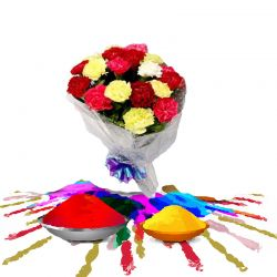 Mixed Carnations with Gulal