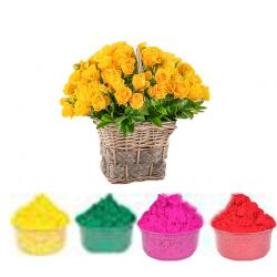 30 Smiling Yellow Roses n...