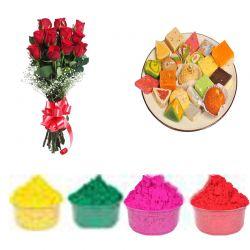Red Roses Sweet n Gulal