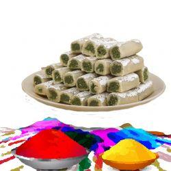 Gulaal With Kaju Pista Roll