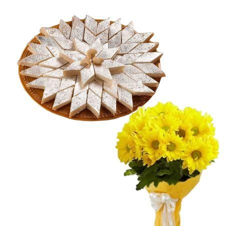 Gerberas n Katli for Tamil New Year