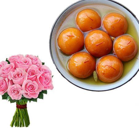 Tamil New Year Peach roses