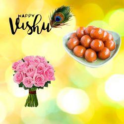 Vishu New Year Pink Rose