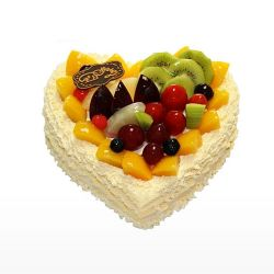 Heart Shaped Fruit Cake 1.5Kg