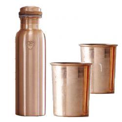 Copper Bottle and Mug